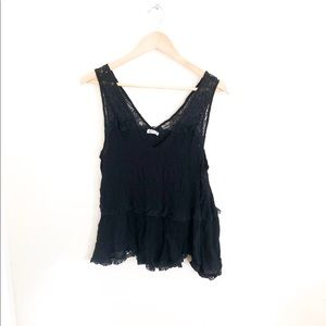 Free people intimately size small flowy lace top